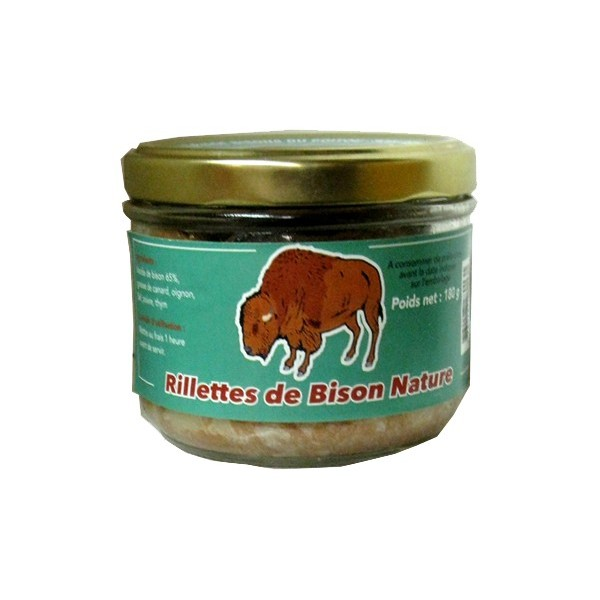 rillettes de bison nature